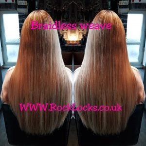 rocklocks hair extensions Braidless Weave