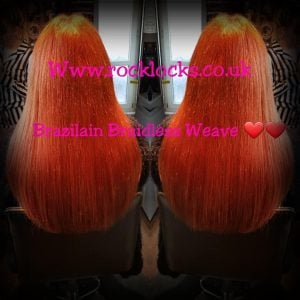 rocklocks hair extensions Brazilian Braidless Weave